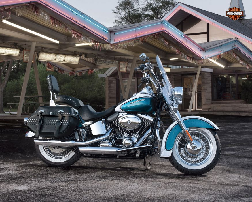 2013 Harley Davidson FLSTC Heritage Softail Classic    g wallpaper