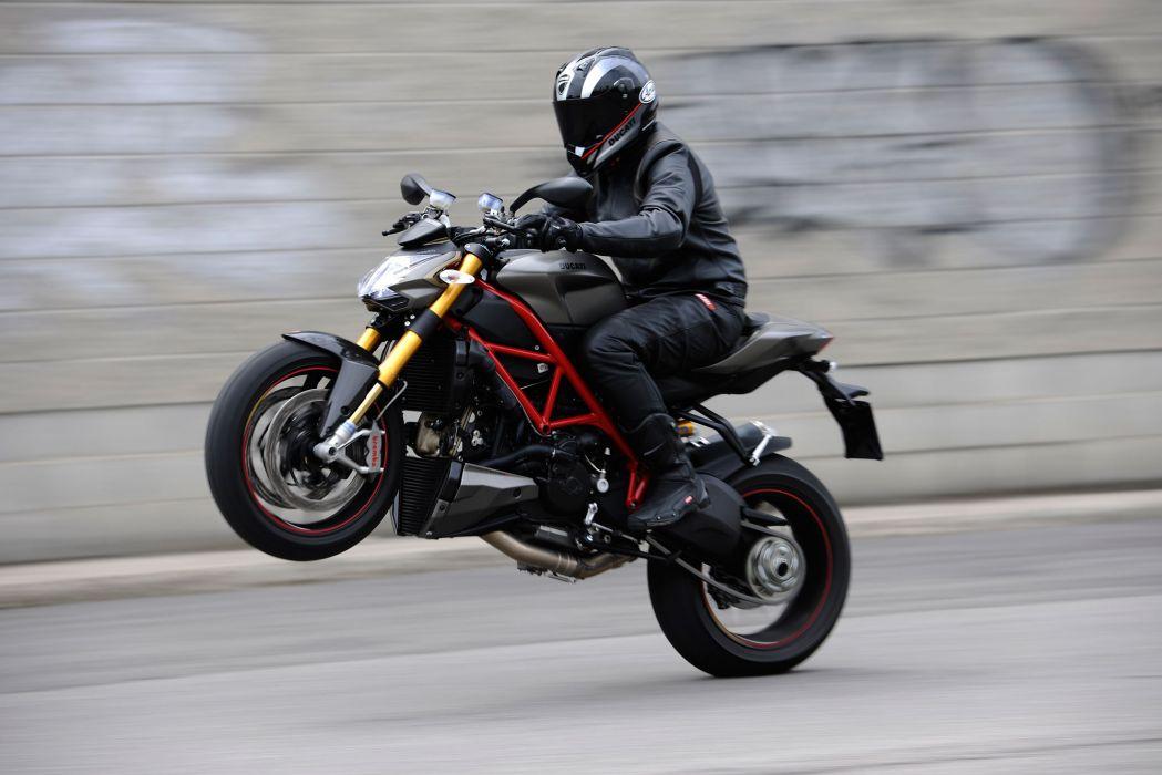 2013 Ducati Streetfighter S wheelie wallpaper