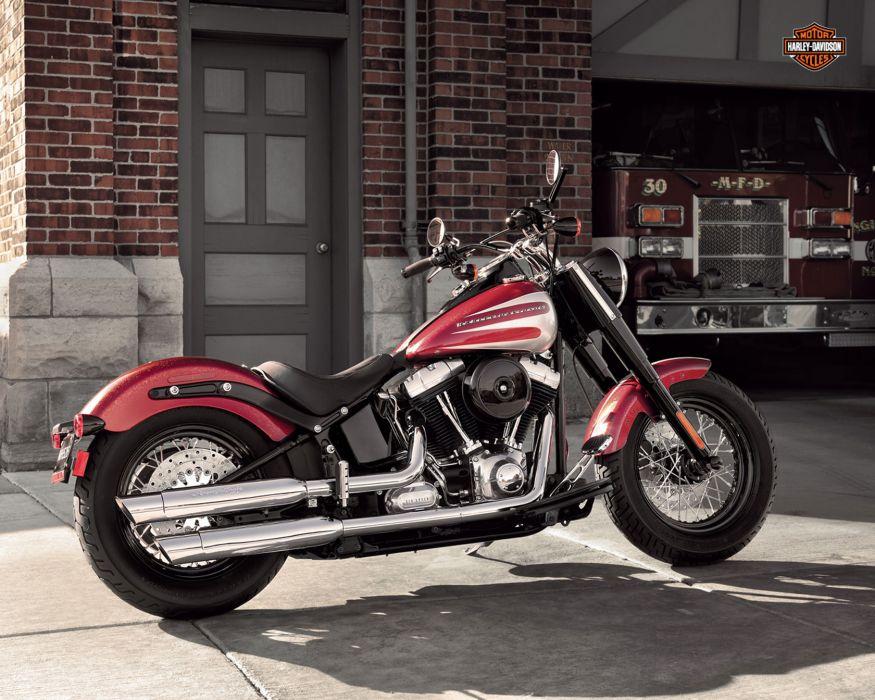2013 Harley Davidson FLS Slim e wallpaper