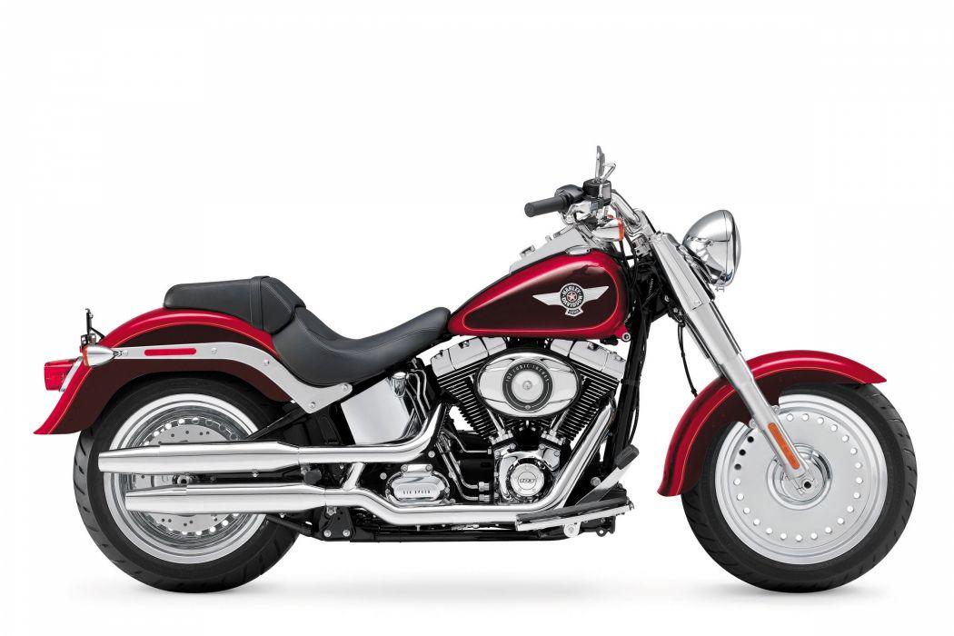 2013 Harley Davidson FLSTF Softail Fat Boy     d wallpaper