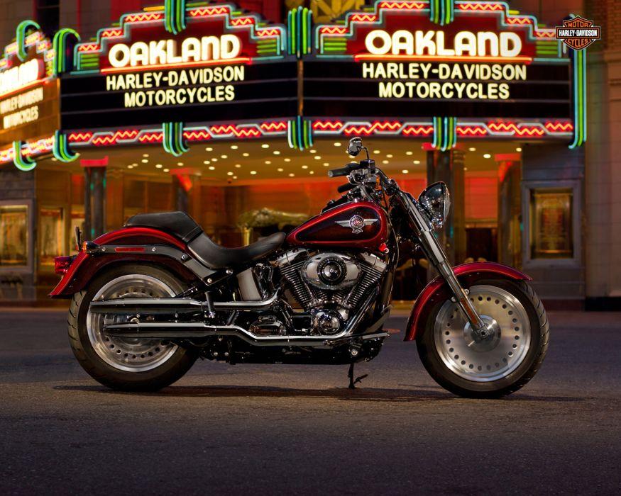 2013 Harley Davidson FLSTF Softail Fat Boy wallpaper