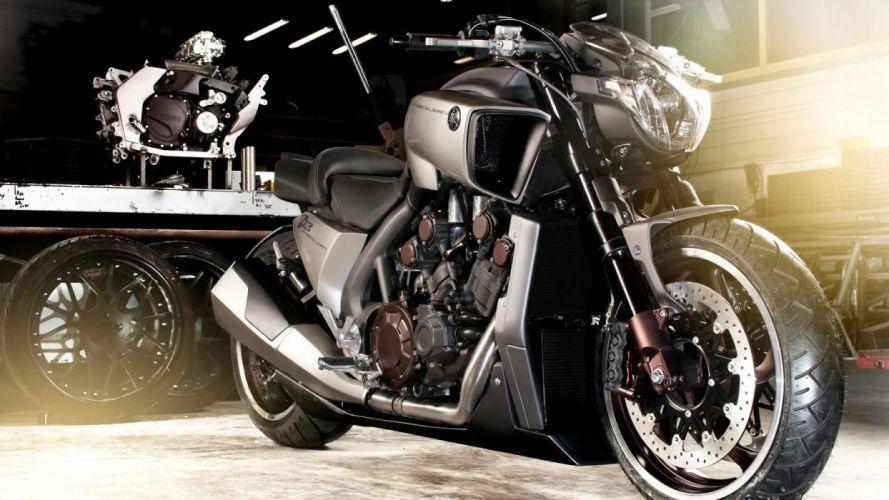 2013 Yamaha VMAX Hyper Modified Ludovic Lazareth a wallpaper