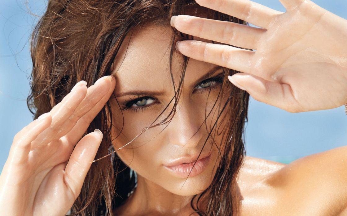 Monika Pietrasinka brunette brunettes women girl girls model models wallpaper