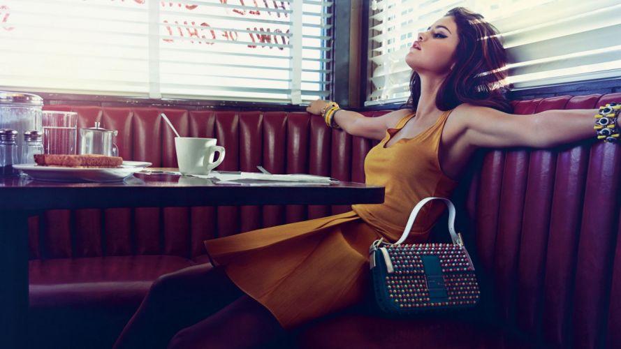 Selena Gomez girl girls brunette brunettes women d wallpaper