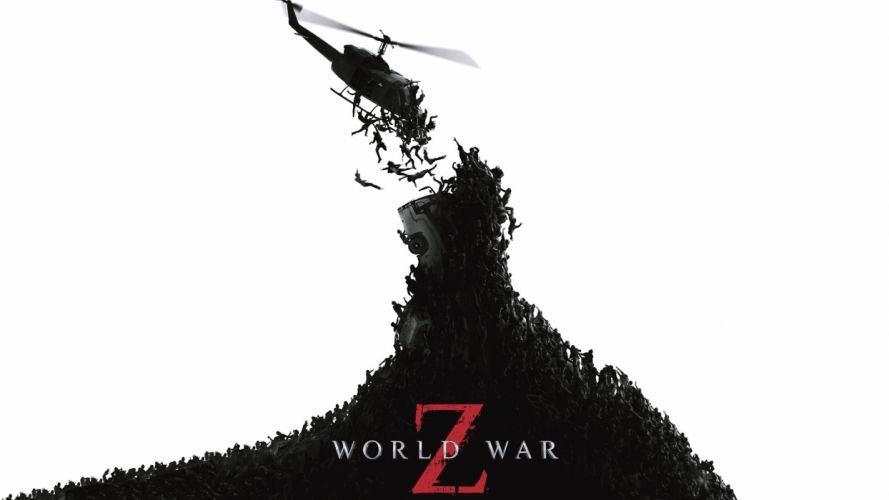 World War Z dark helicopter horror brad pitt wallpaper