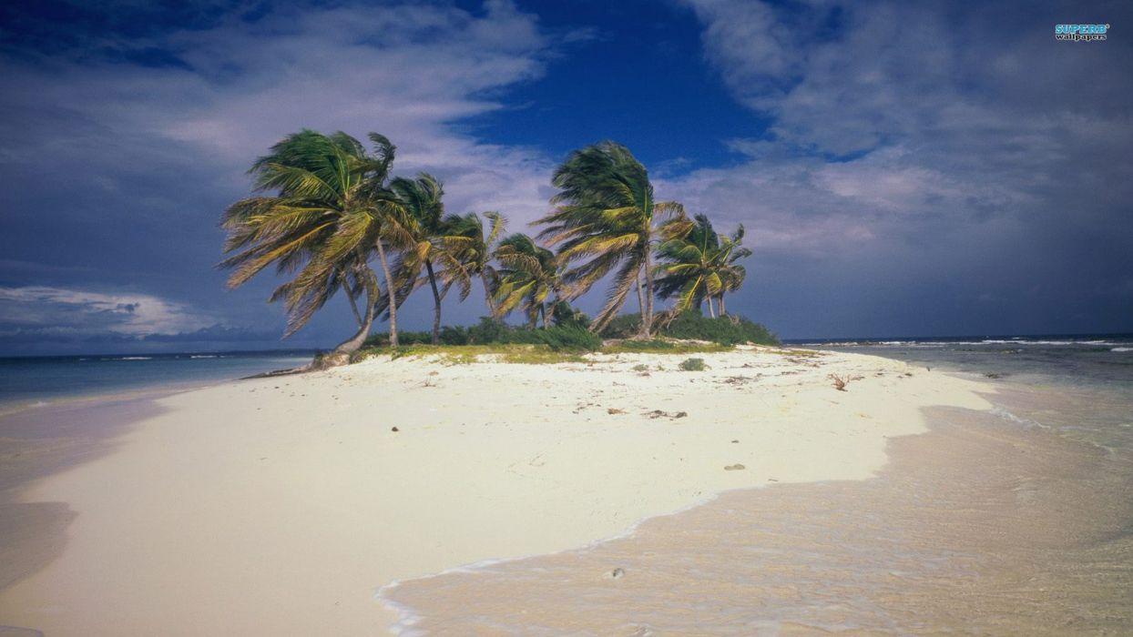 beach summer Anguilla wallpaper