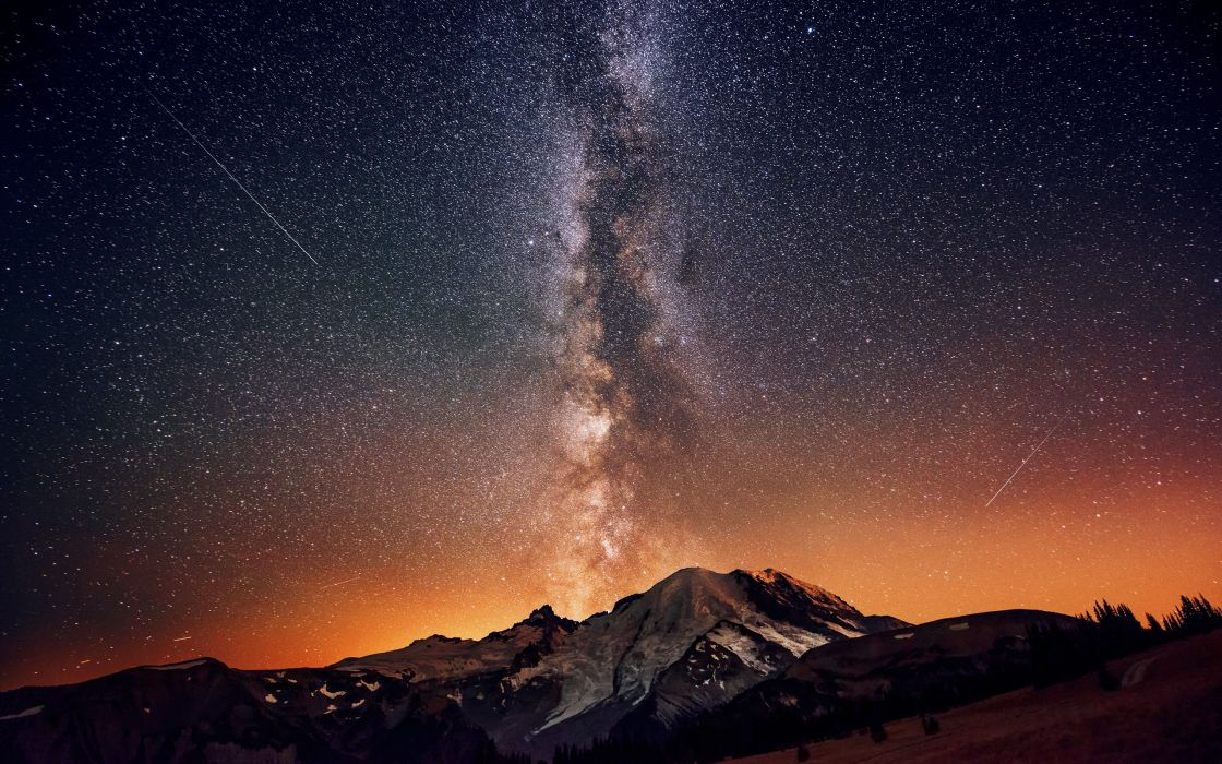 stars Milky Way night sky wallpaper