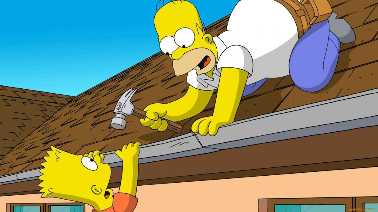 Homer Simpson The Simpsons Bart Simpson Animated Movies wallpaper