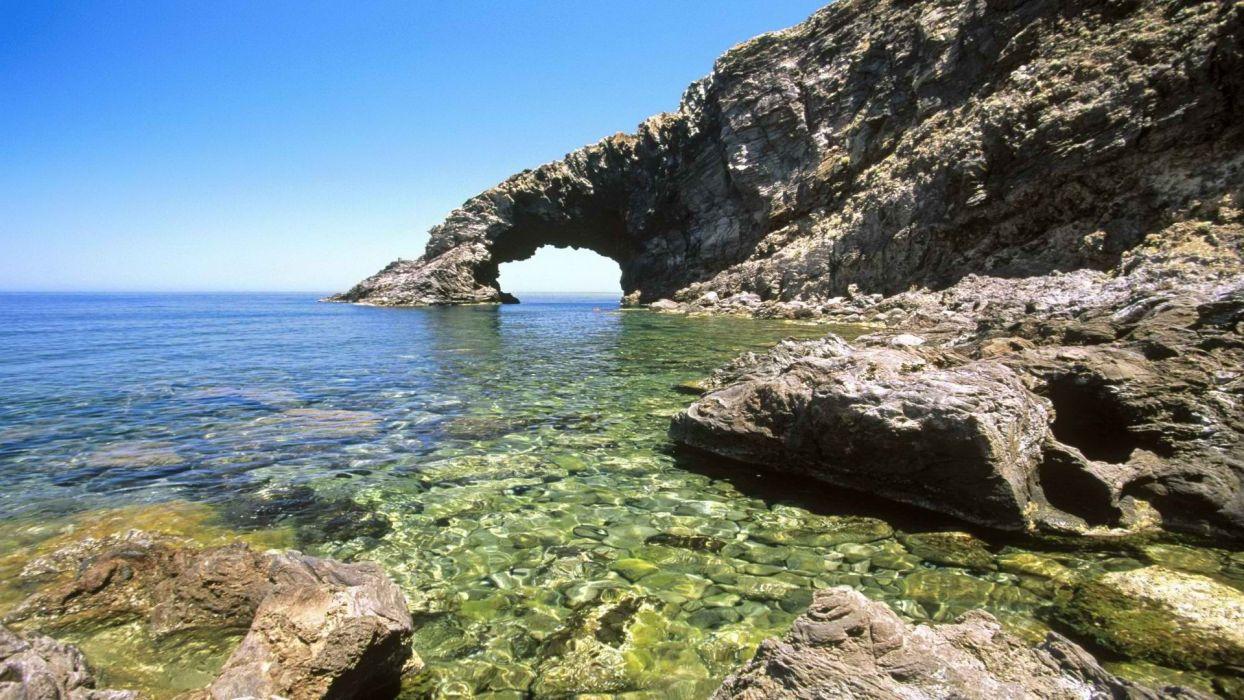 water islands Italy Sicily sea wallpaper