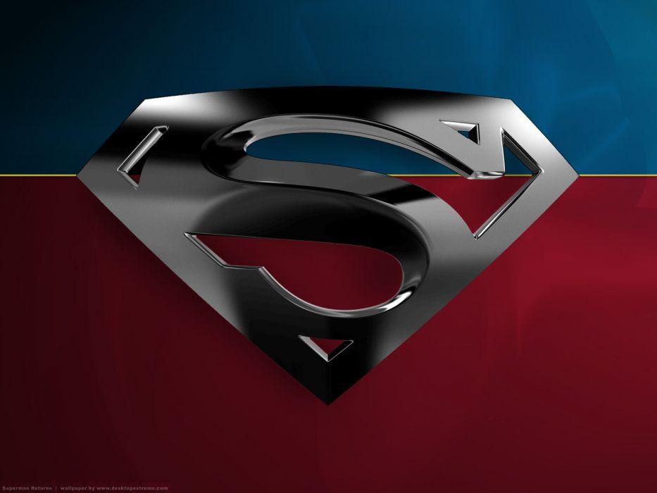 movies DC Comics Superman Superman Returns logos Superman Logo wallpaper