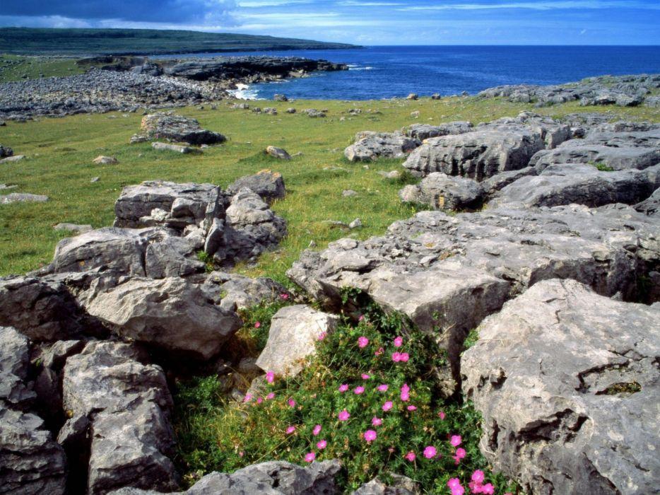 landscapes nature rocks sea shorelines wallpaper