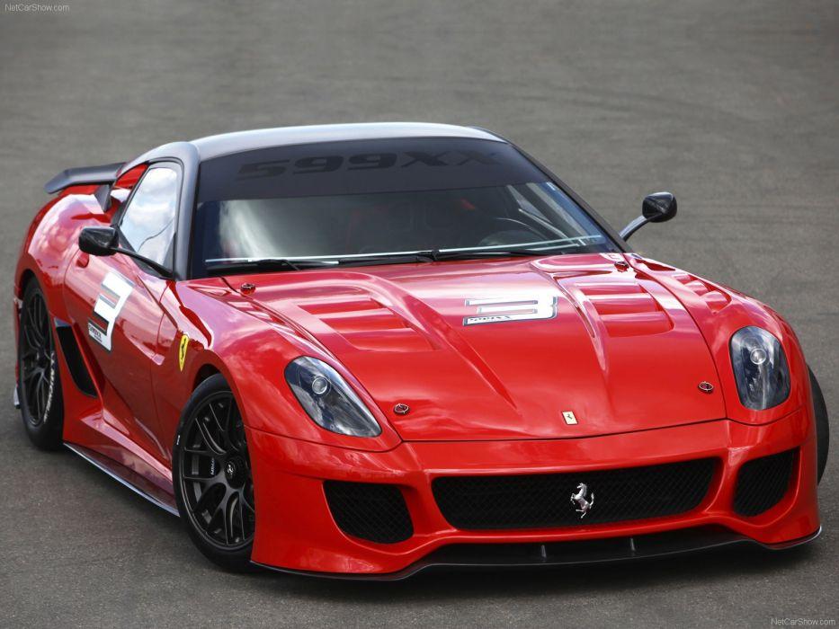 red cars Ferrari 599XX wallpaper
