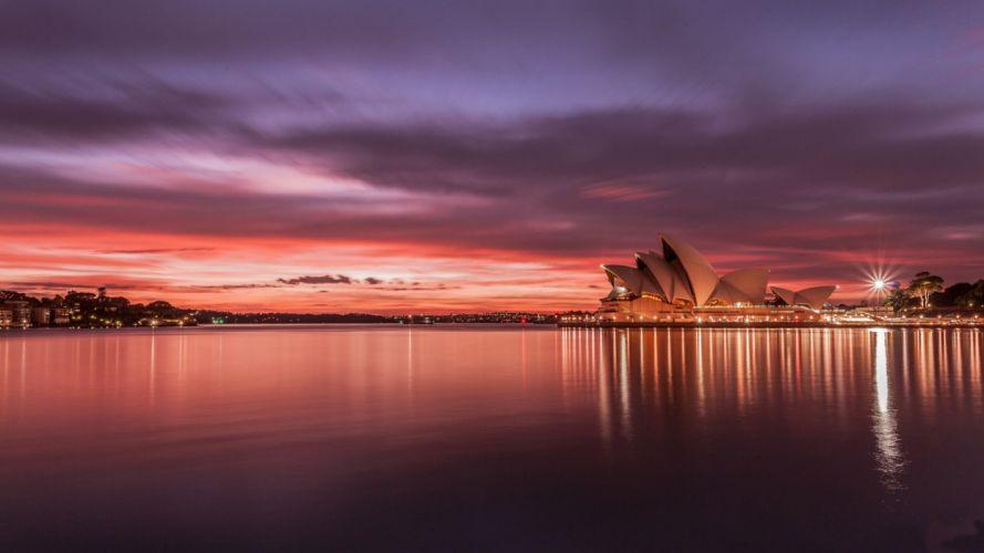 Australia-Sydney-Opera-House-sunset wallpaper