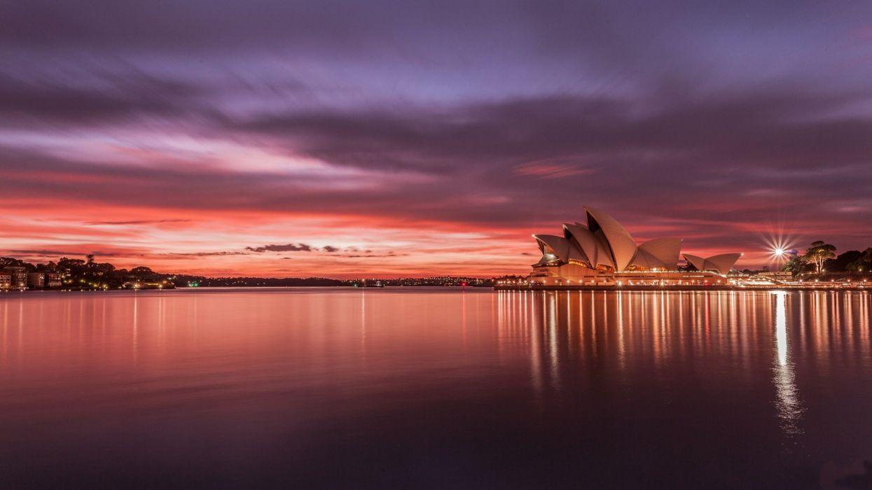 Australia Sydney Opera House Sunset Wallpaper 2560x1440 87913
