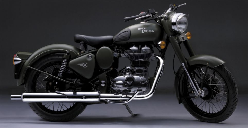 2013 Royal Enfield Bullet Classic Military f wallpaper
