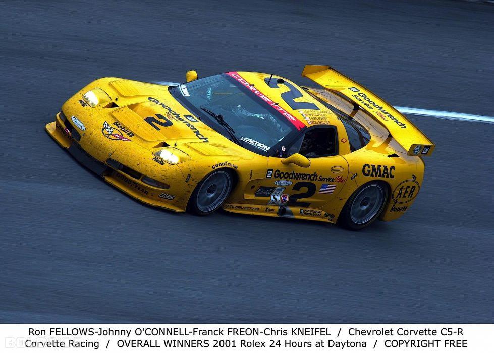 2001 Chevrolet Corvette C5-R supercar supercars race racing      f wallpaper