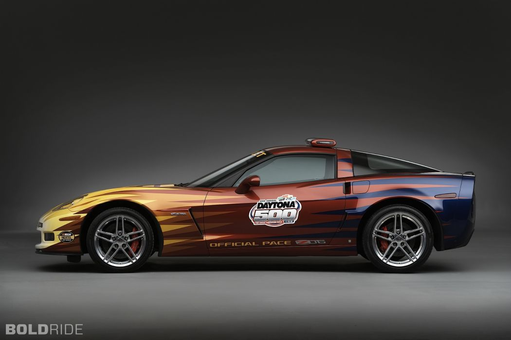 2006 Chevrolet Corvette Z06 Daytona 500 Pace supercar supercars race racing   e wallpaper