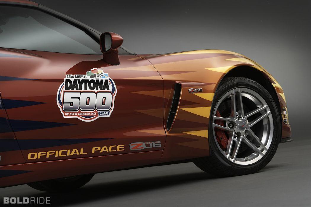 2006 Chevrolet Corvette Z06 Daytona 500 Pace supercar supercars race racing muscle wheel wheels wallpaper