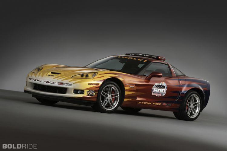 2006 Chevrolet Corvette Z06 Daytona 500 Pace supercar supercars race racing q wallpaper