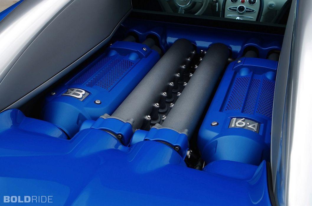 2009 Bugatti Veyron Bleu Centenaire supercar supercars engine engines wallpaper
