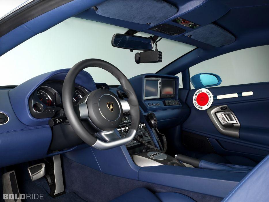 2009 Lamborghini Gallardo LP560-4 Polizia police supercar supercars interior  f wallpaper