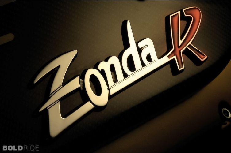 2009 Pagani Zonda R supercar supercars logo texts wallpaper