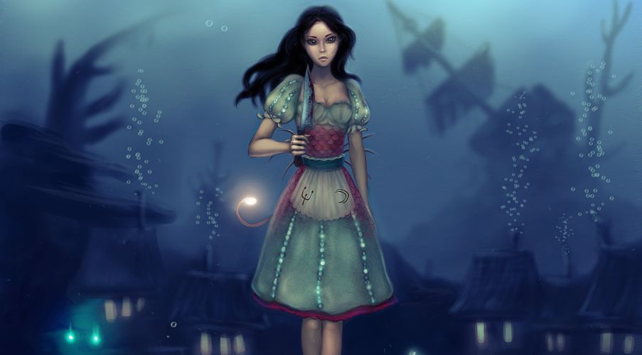 Alice American McGee's anime game games wallpaper