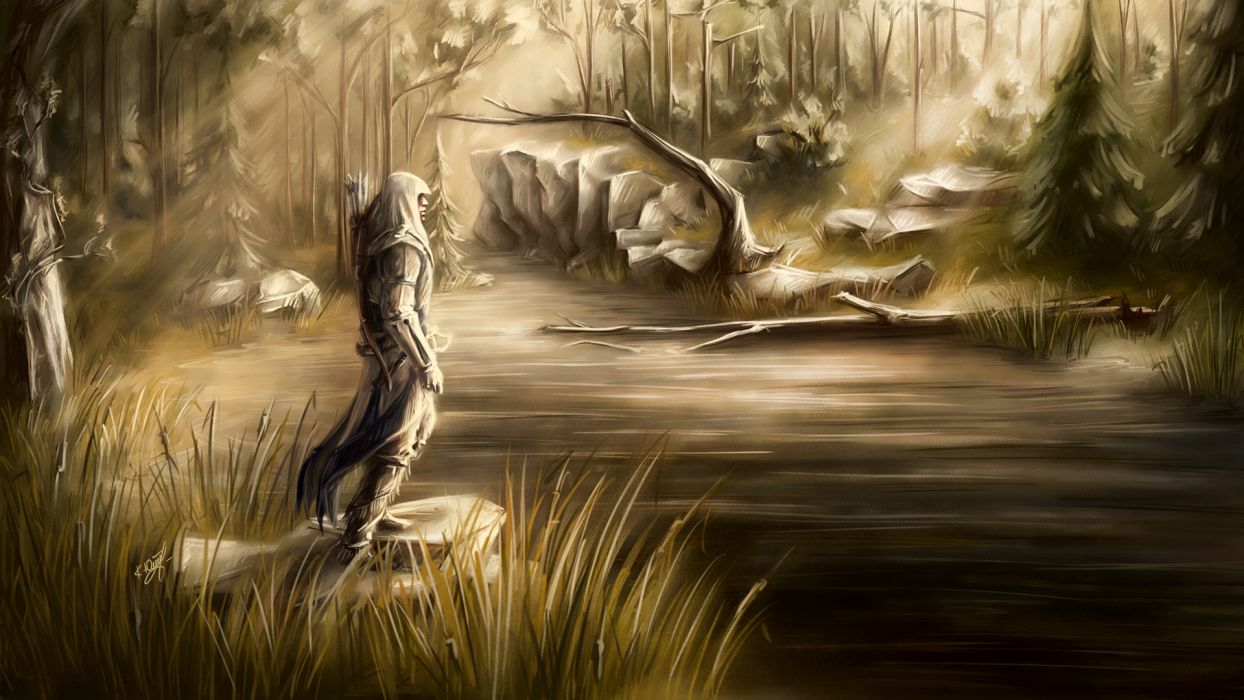 Assassin's Creed 3 Warriors Painting Art Games fantasy bow arrow arrows warrior wallpaper
