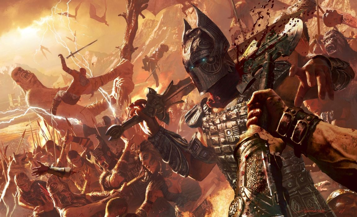 Battles Warriors Armor Helmet Fantasy warrior wallpaper
