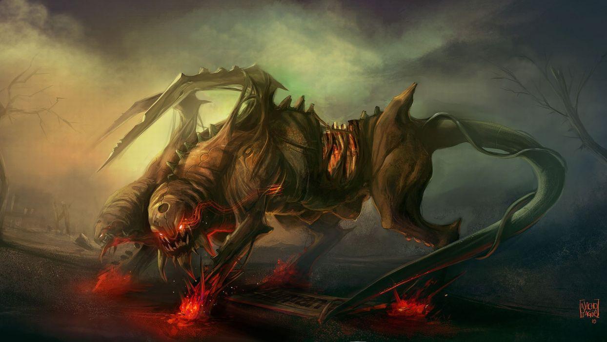 dark fantasy monster monsters creatures creature demon demons wallpaper
