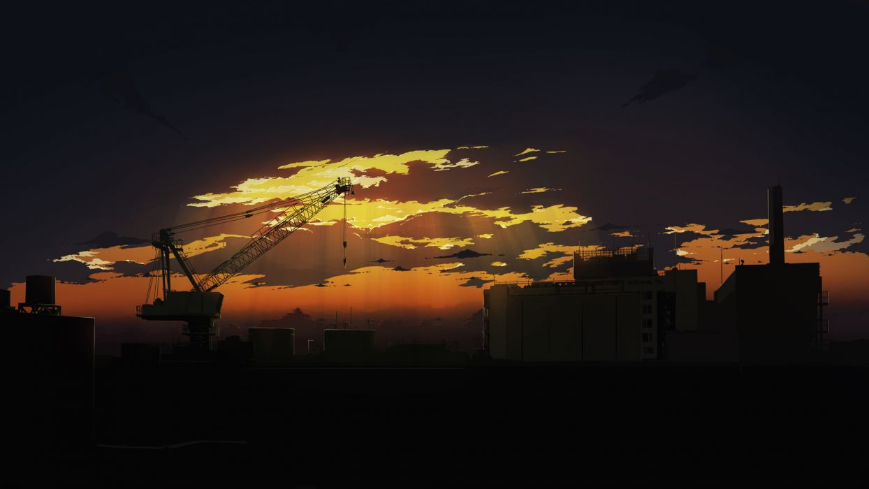 dark original scenic sunset wallpaper