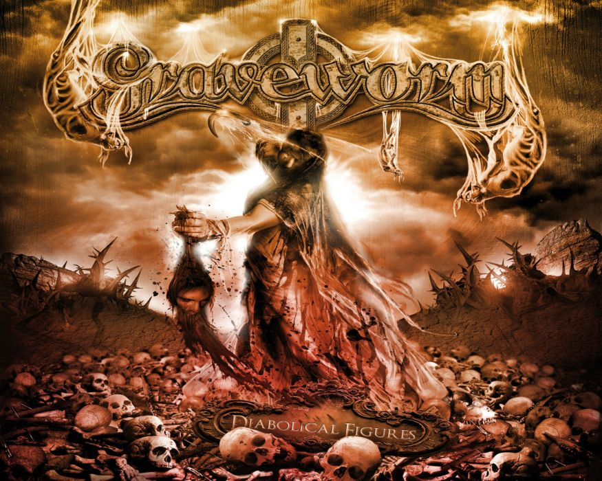 GRAVEWORM extreme gothic metal heavy cover dark horror skull skulls blood gothic wallpaper