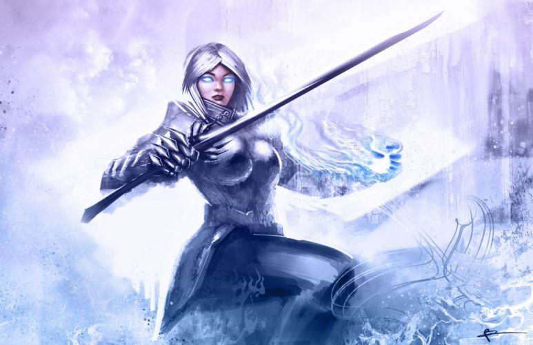 Guild Wars 2 Swords Armor Games Girls Fantasy weapon weapons sword wallpaper