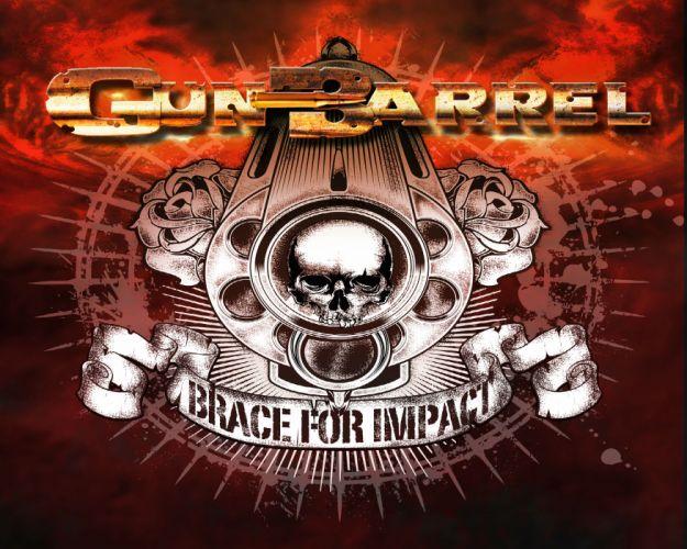 GUN BARREL heavy metal dark skull skulls wallpaper