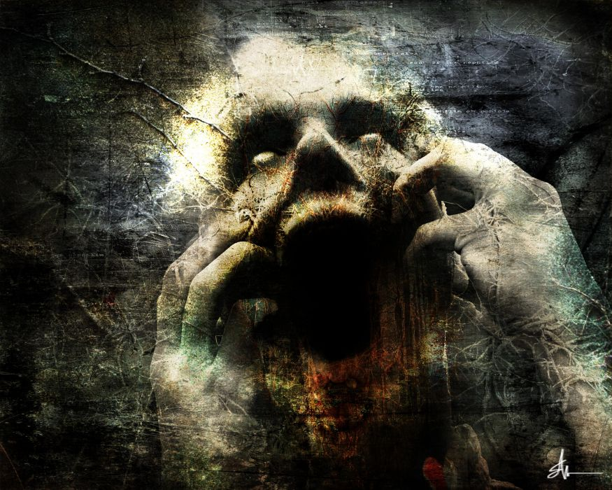horror dark gothic scream wallpaper
