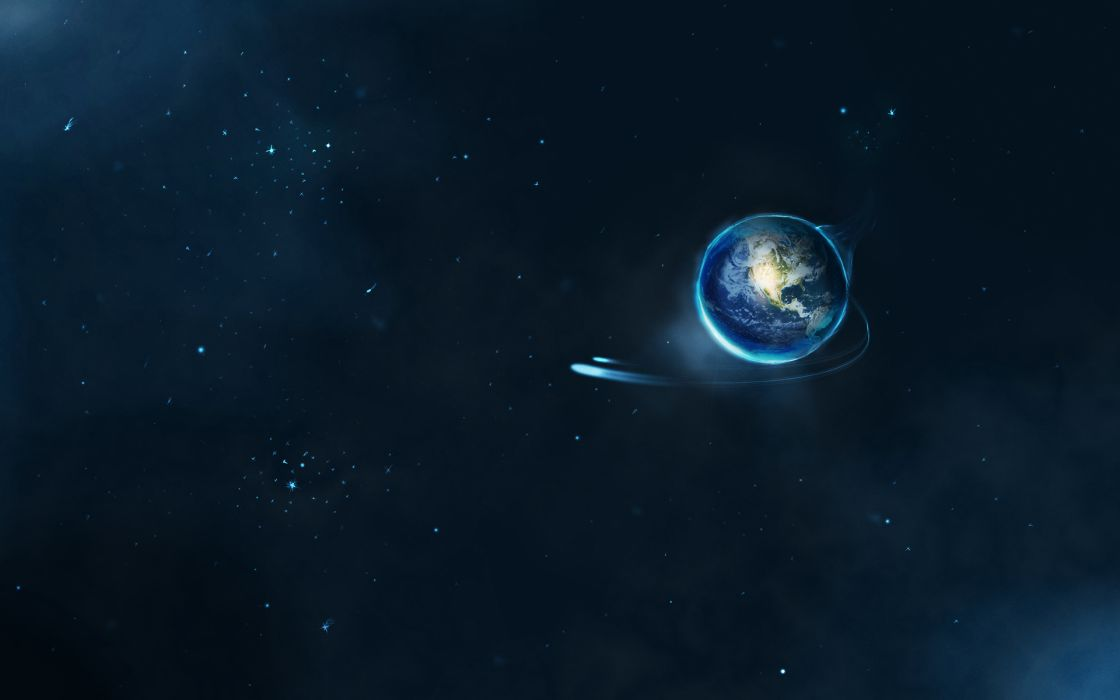 Planets Rays planet star stars space outer earth wallpaper