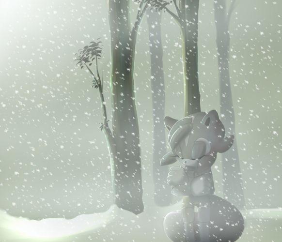 Sonic the Hedgehog mood snow winter bokeh wallpaper