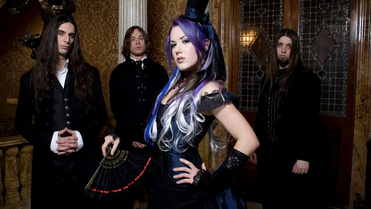 THE AGONIST alissa white symphonic metal heavy gothic D wallpaper
