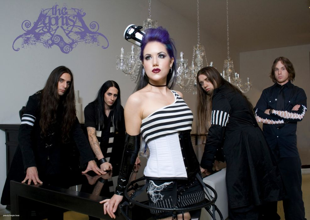 THE AGONIST alissa white symphonic metal heavy gothic wallpaper