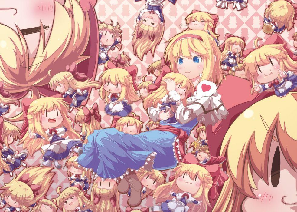 touhou alice margatroid blonde hair chibi dress wallpaper