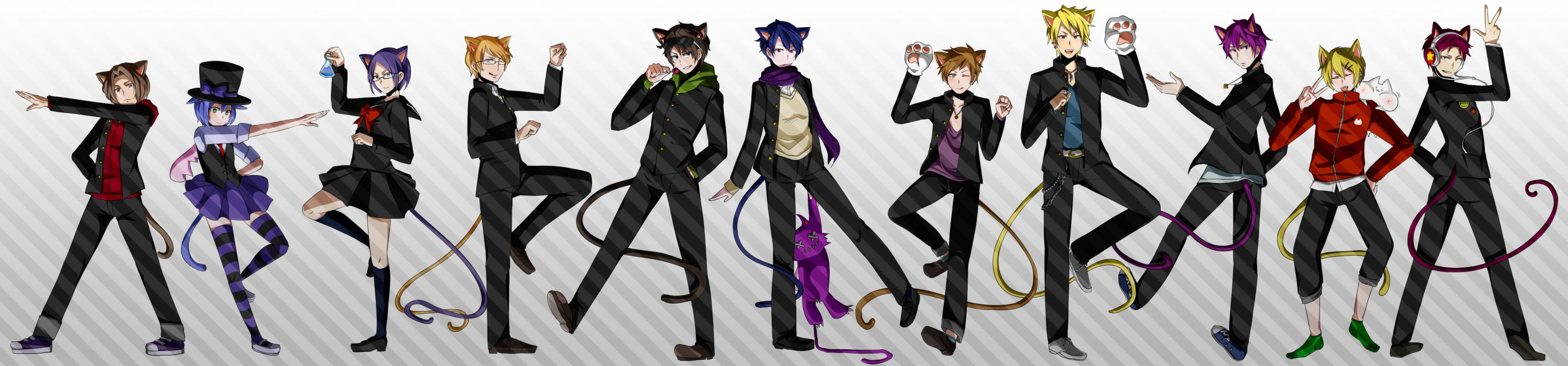 Vocaloid Envy Catwalk dual multi wallpaper