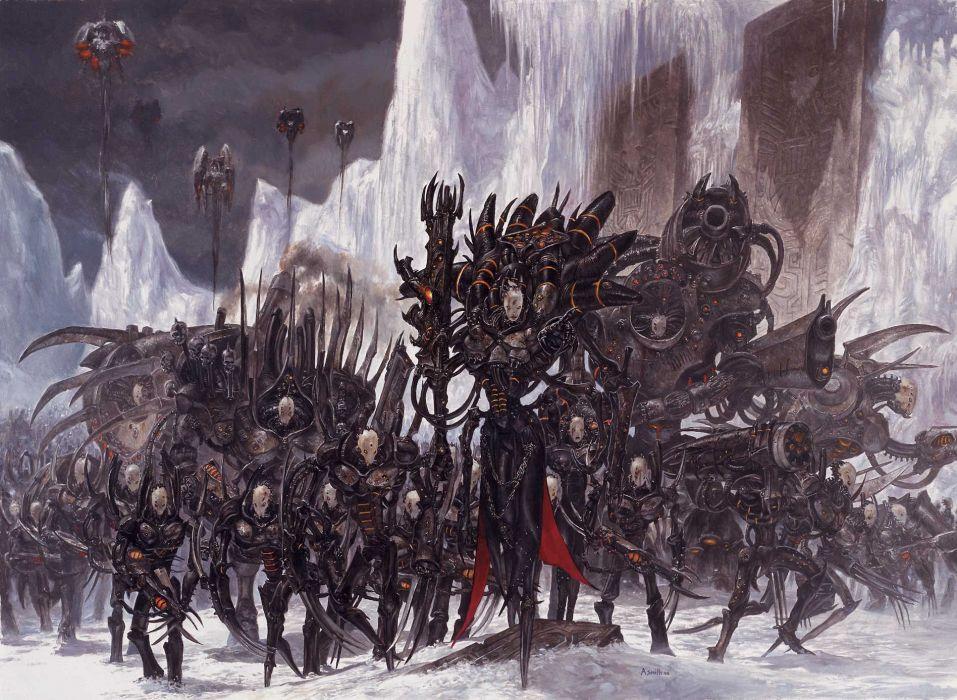warhammer dark sci-fi warrior warriors wallpaper