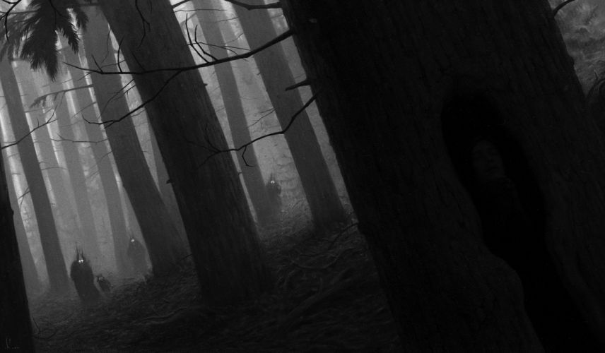 werewolves werewolf wolf wolves dark horror creature creatures creepy forest trees wallpaper