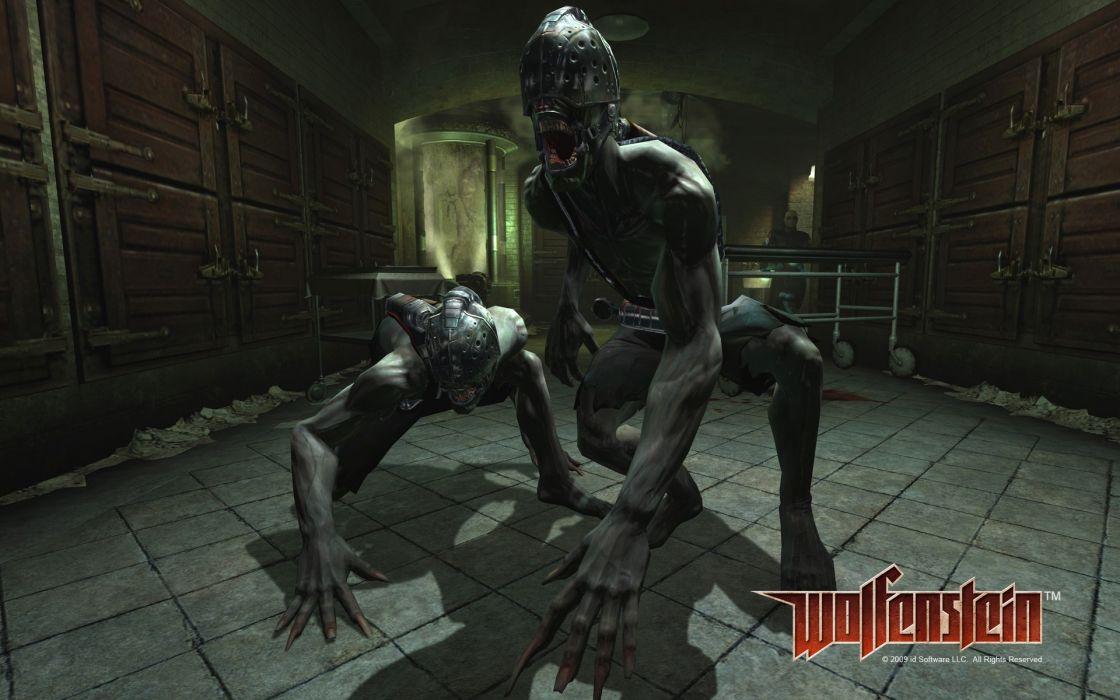 WOLFENSTEIN dark monster monsters wallpaper