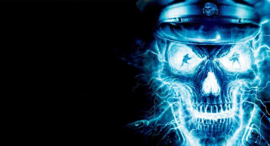 WOLFENSTEIN dark skull skulls wallpaper