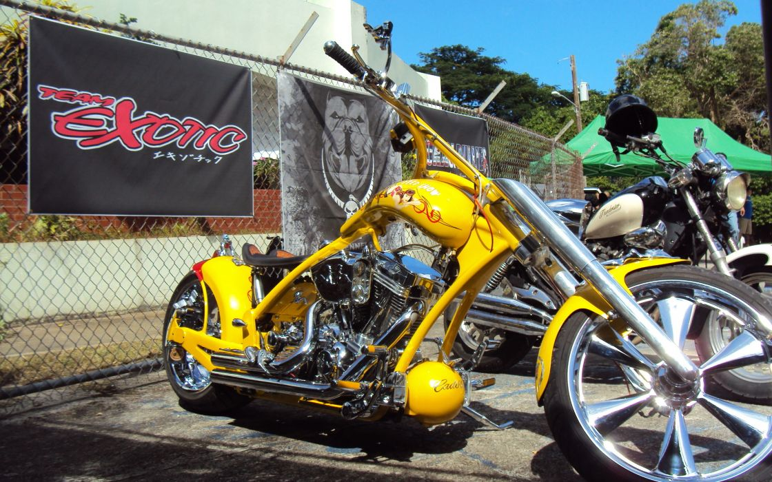 Chopper Harley Davidson motorcycle wallpaper