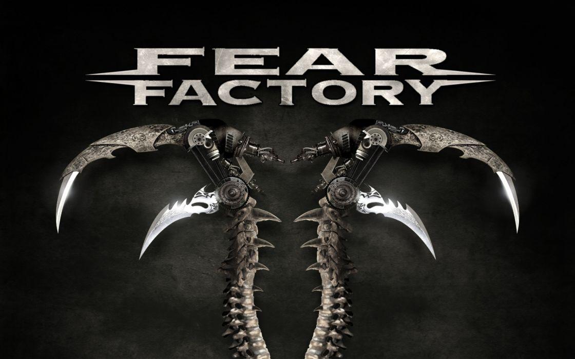 FEAR FACTORY alternative industrial metal heavy logo  v wallpaper