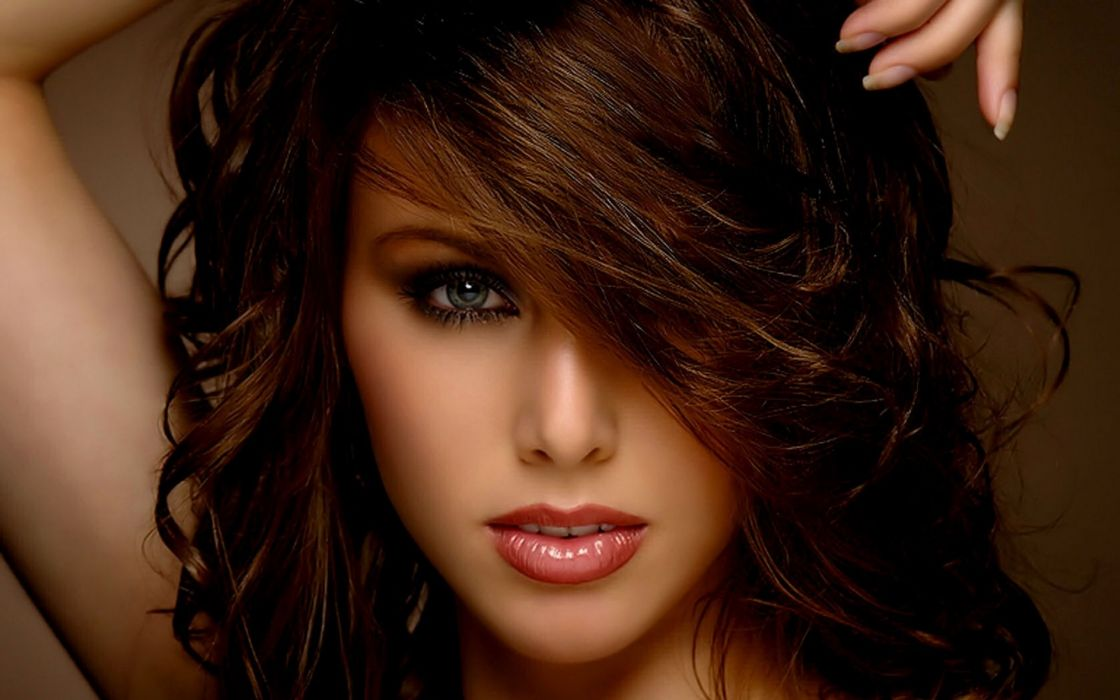 model brunette brunettes face eyes eye girls women girl wallpaper
