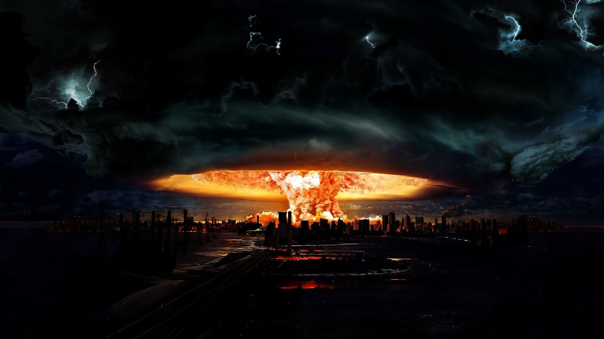 Nuclear explosion lightning storm horror wallpaper ... Real Nuclear Explosions Wallpaper