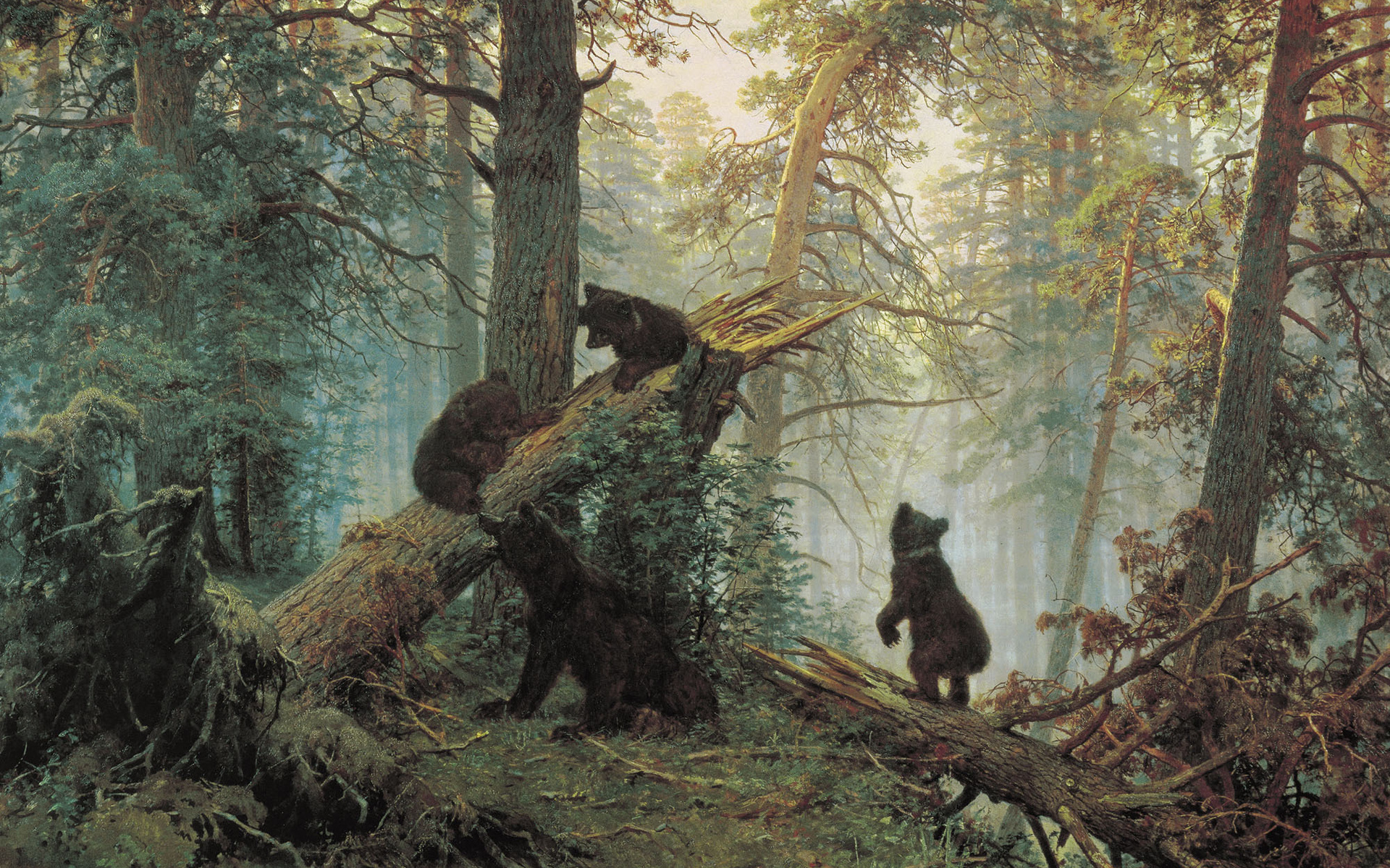 Shishkin painting bears bear paintings trees wallpaper | 1920x1200 ...: www.wallpaperup.com/89268/Shishkin_painting_bears_bear_paintings...